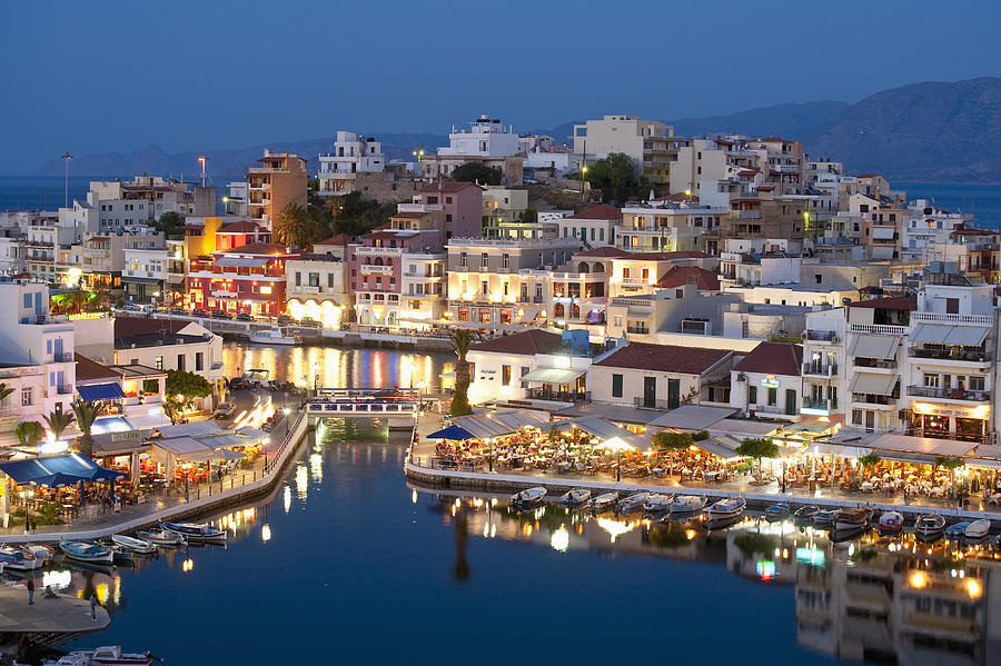 Color Image Photograph - Lake Vouismeni Agios Nikolaos, Crete by Axiom Photographic