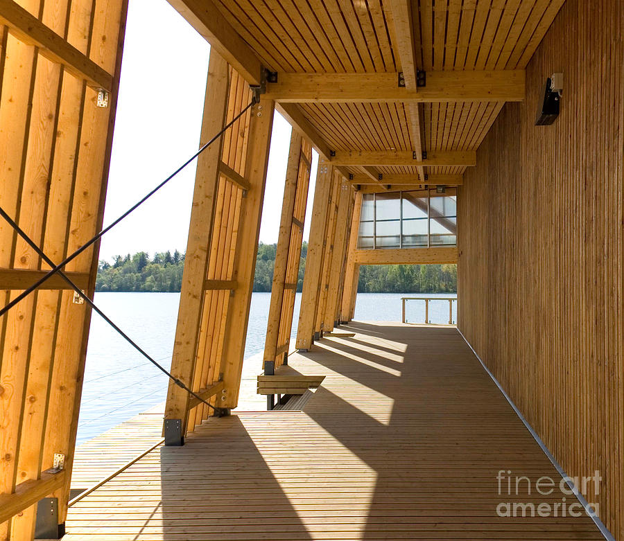 Lakeside Building And Dock Photograph  - Lakeside Building And Dock Fine Art Print