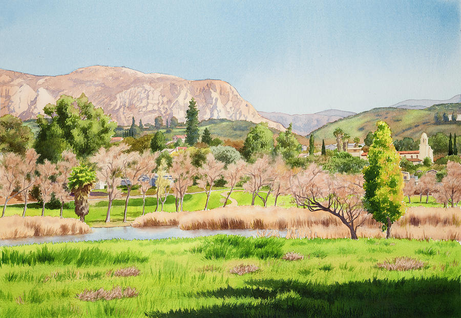 Lakeside California Painting  - Lakeside California Fine Art Print