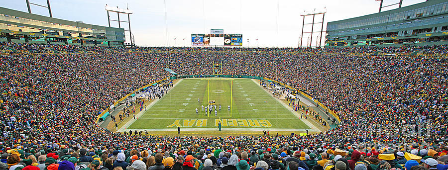 Lambeau Field Panoramic Photograph  - Lambeau Field Panoramic Fine Art Print