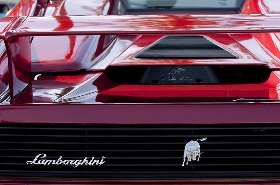 Lamborghini Rear View Photograph  - Lamborghini Rear View Fine Art Print