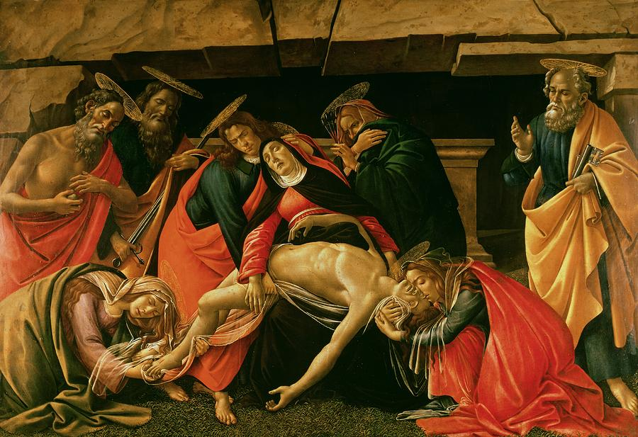 Lamentation Of Christ Painting  - Lamentation Of Christ Fine Art Print