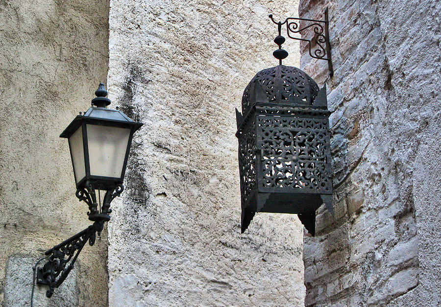 Lamp On Wall Photograph  - Lamp On Wall Fine Art Print