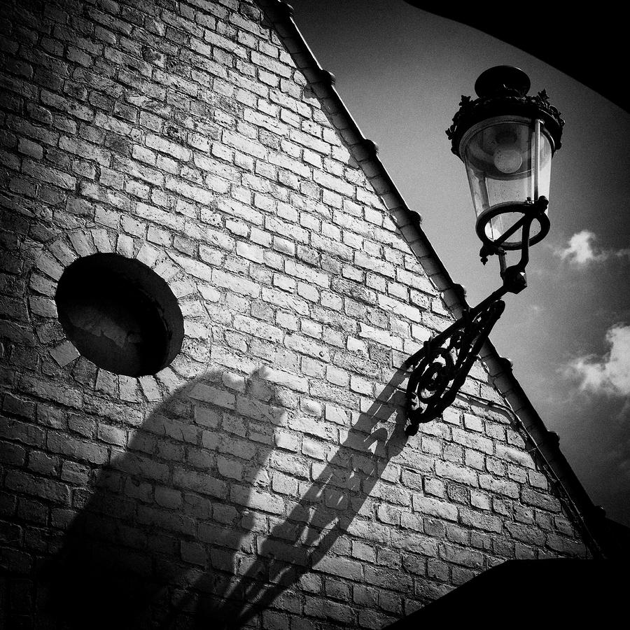 Lamp With Shadow Photograph  - Lamp With Shadow Fine Art Print