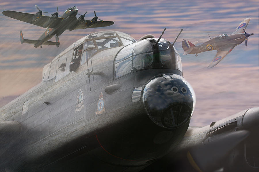 Lancaster Bomber by Keith Double: fineartamerica.com/featured/lancaster-bomber-keith-double.html