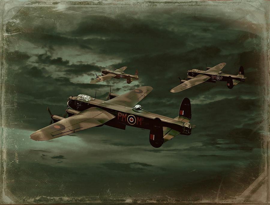 Avro Lancaster Photograph - Lancaster Mission by Steven Agius