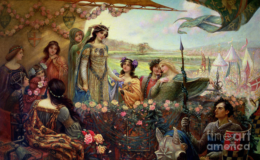 Lancelot And Guinevere Painting  - Lancelot And Guinevere Fine Art Print