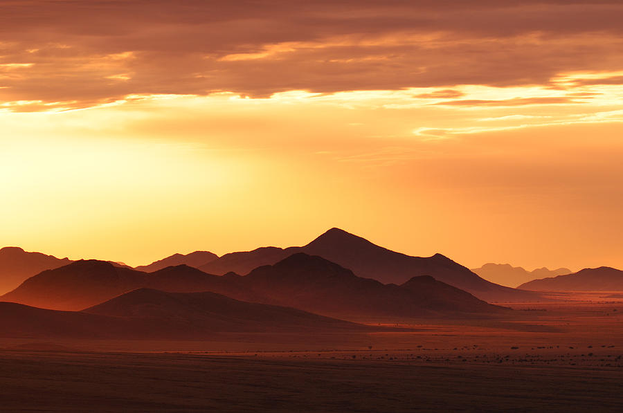 Sunset At Wolwedans Private Camp Photograph - Land Of Sand by Christian Heeb