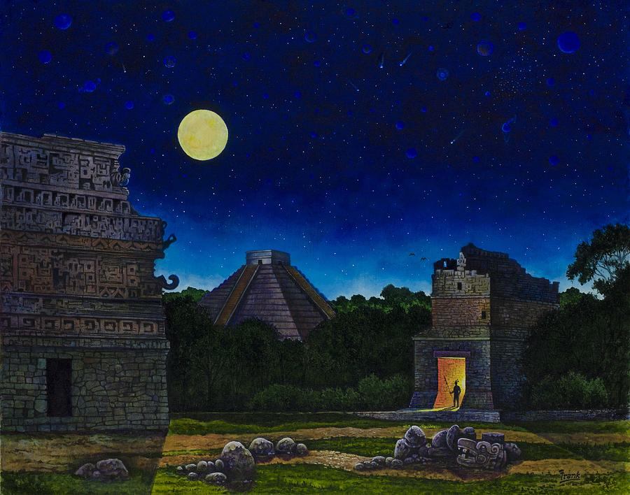 Land Of The Maya Painting  - Land Of The Maya Fine Art Print