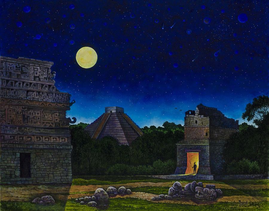 Maya Painting - Land Of The Maya by Michael Frank
