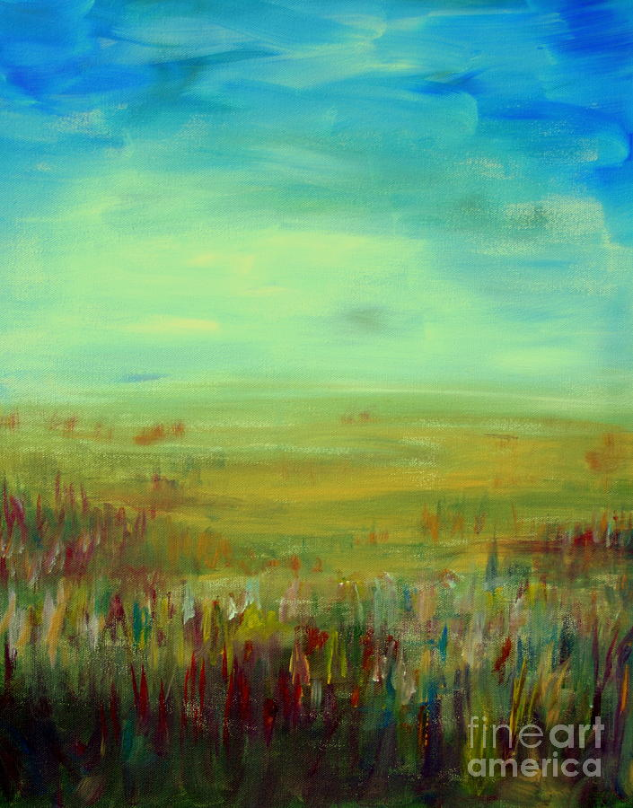 Landscape Abstract Painting  - Landscape Abstract Fine Art Print