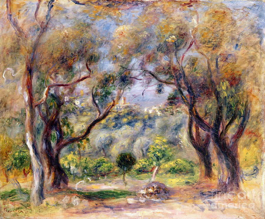 Landscape at cagnes painting by pierre auguste renoir for Paintings by renoir