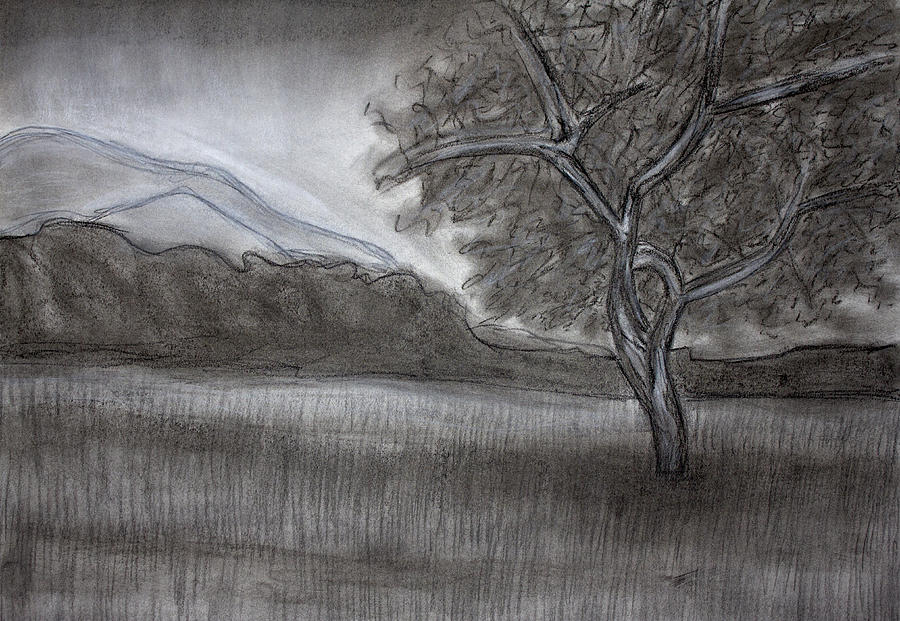 landscape charcoal sketches - photo #14