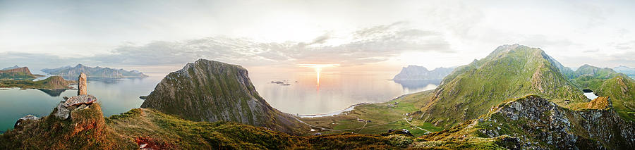Landscape Mountains, Lofoten, Norway Photograph  - Landscape Mountains, Lofoten, Norway Fine Art Print