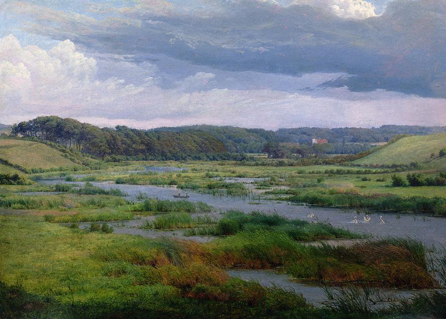 Landscape Near Ribe Painting - Landscape Near Ribe Denmark by Frederik ...
