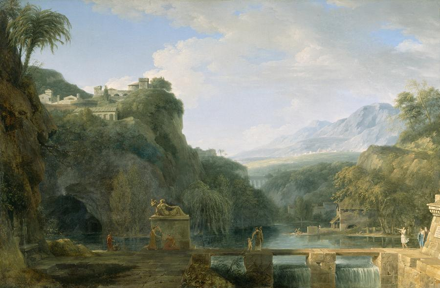 Landscape Of Ancient Greece Painting  - Landscape Of Ancient Greece Fine Art Print