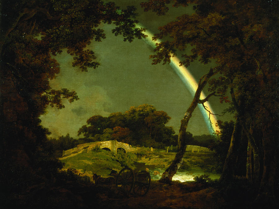 Landscape With A Rainbow Painting
