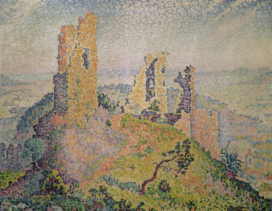 Landscape With A Ruined Castle  Painting