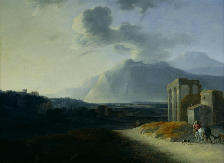 Landscape With Mount Stromboli Painting