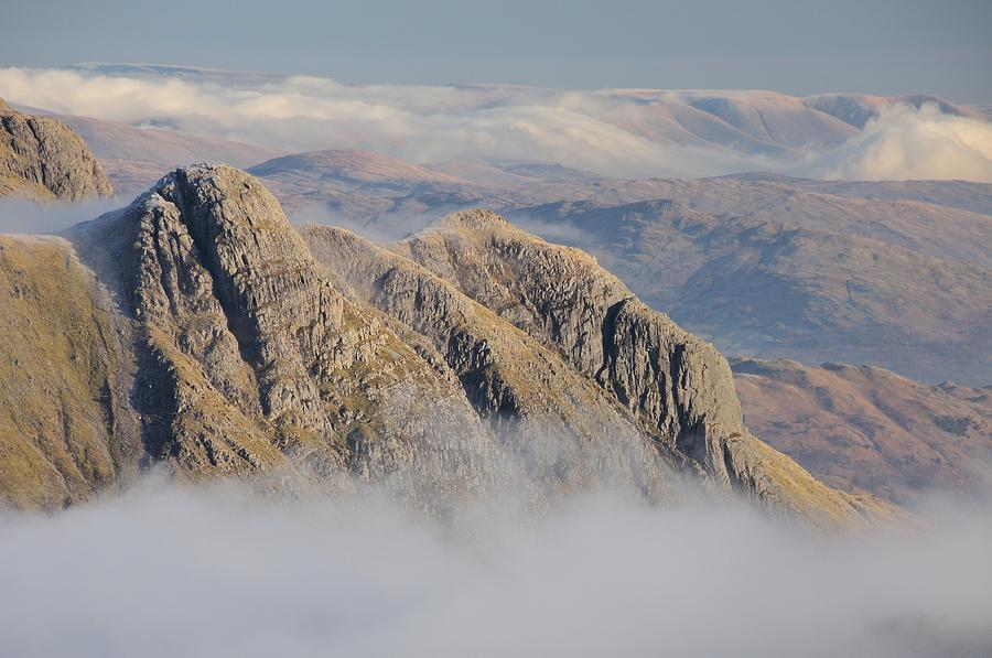 Langdale Photograph - Langdale Pikes by Stewart Smith