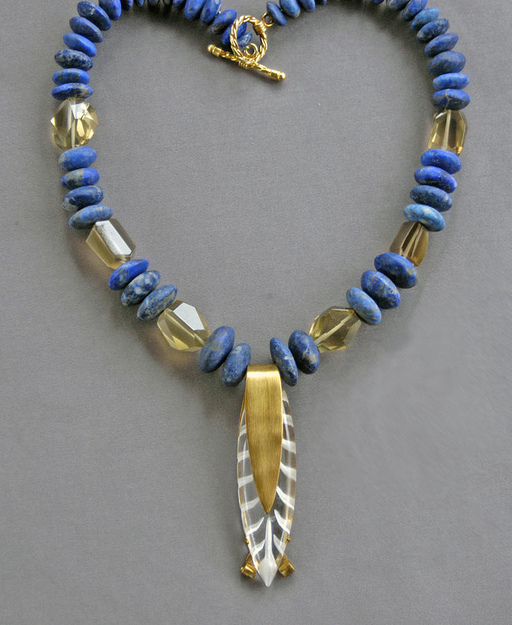 Lapis And Vintage Lucite Jewelry