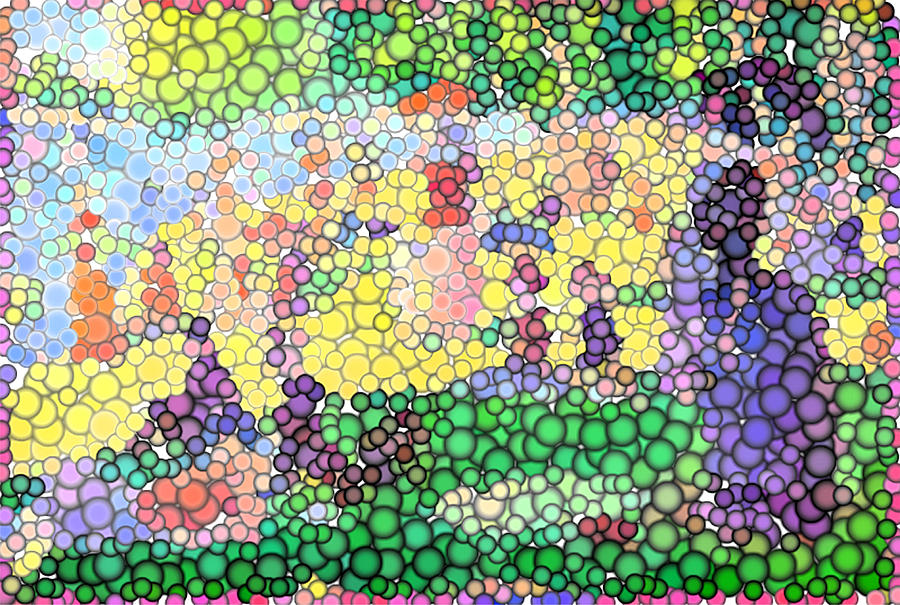 Large Bubbly Sunday On La Grande Jatte Digital Art  - Large Bubbly Sunday On La Grande Jatte Fine Art Print
