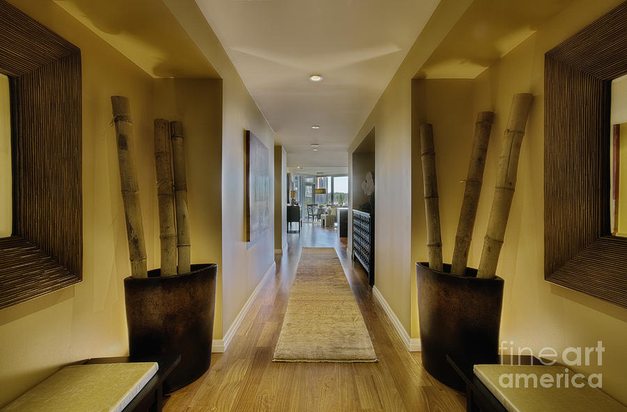 Large Hallway In Upscale Residence Photograph