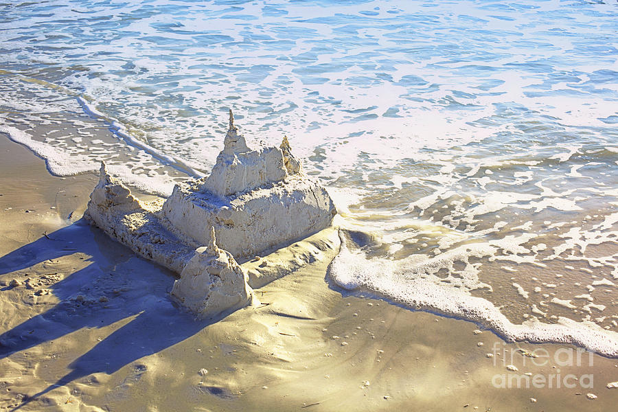 Large Sandcastle On The Beach Photograph