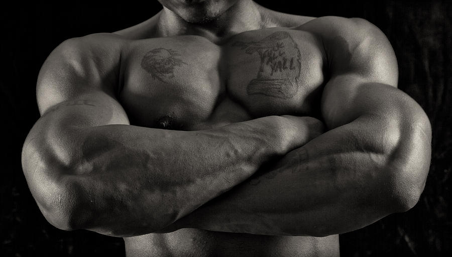 Bodybuilder Photograph - Large by Thomas Mitchell