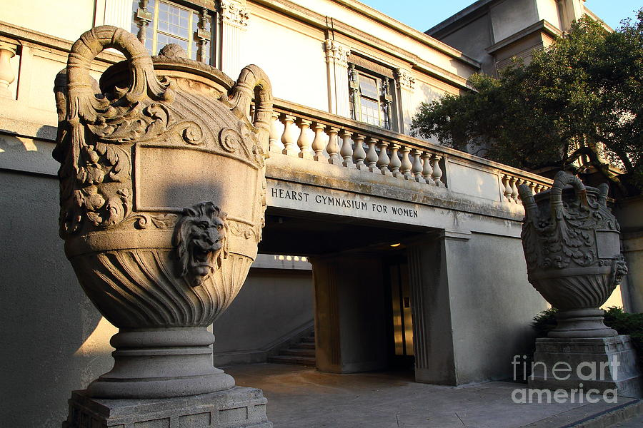 Large Urn With Lion Gargoyle At The Hearst Gymnasium For Women . Uc Berkeley . 7d10196 Photograph