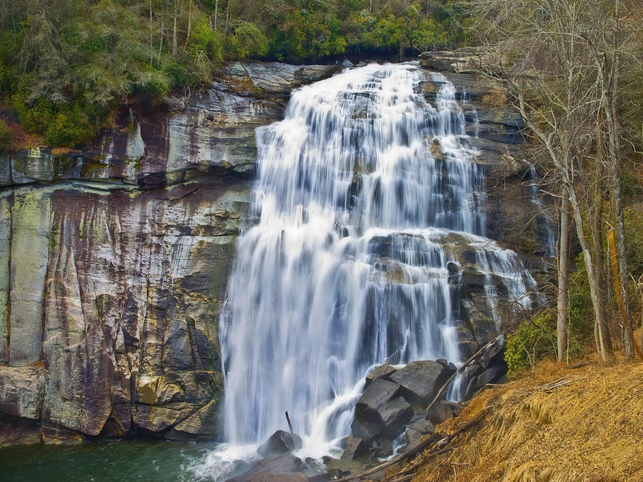 Water Photograph - Large Waterfall by Susan Leggett