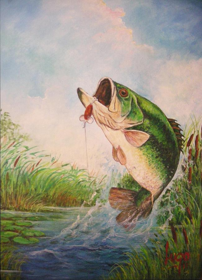 Largemouth Bass Painting