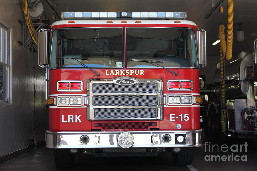 Larkspur Fire Department Fire Engine - Larkspur California - 5d18474 Photograph