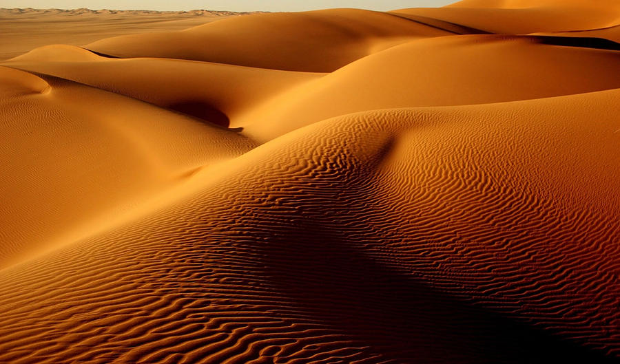 Last Light In The Ubari Sand Sea, Libyan Sahara Photograph