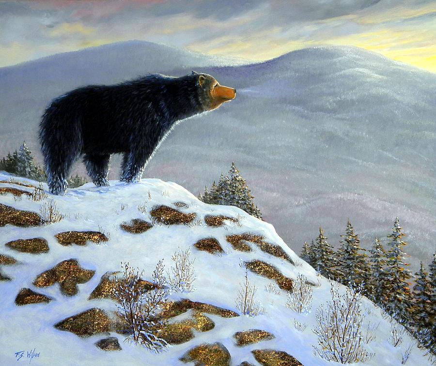 Last Look Black Bear Painting