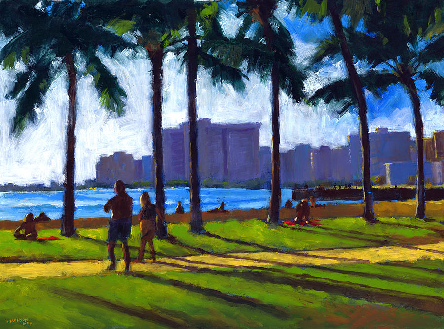 Late Afternoon - Queens Surf Painting