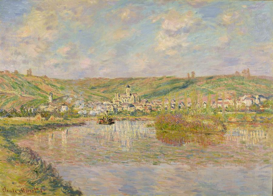 Late Afternoon - Vetheuil Painting