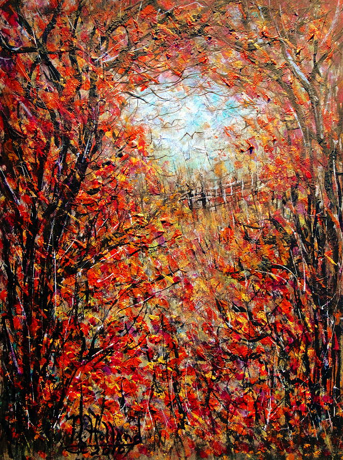 Late Autumn Painting  - Late Autumn Fine Art Print