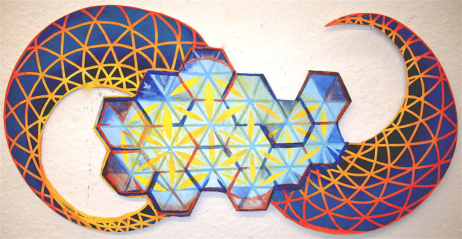 Lattice Of Spirit Dissipation Painting