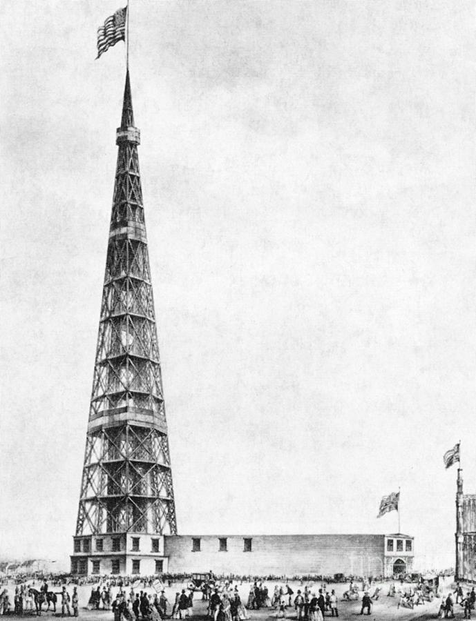 Latting Observatory, Nyc, 1850s Photograph