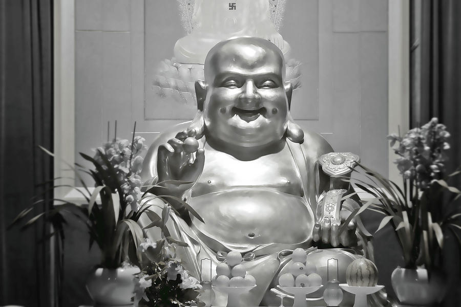Laughing Buddha - A Symbol Of Joy And Wealth Photograph  - Laughing Buddha - A Symbol Of Joy And Wealth Fine Art Print