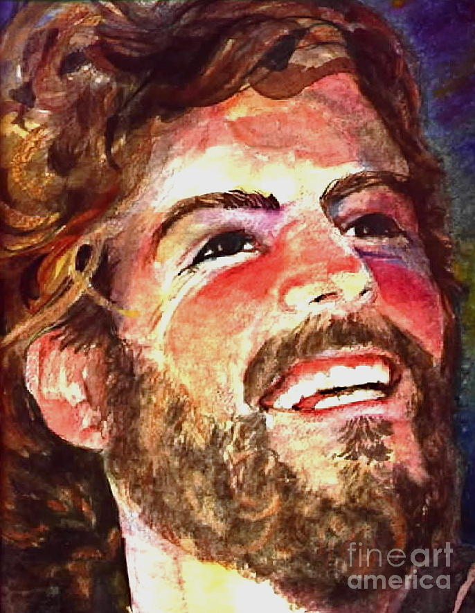 Laughing Jesus Painting