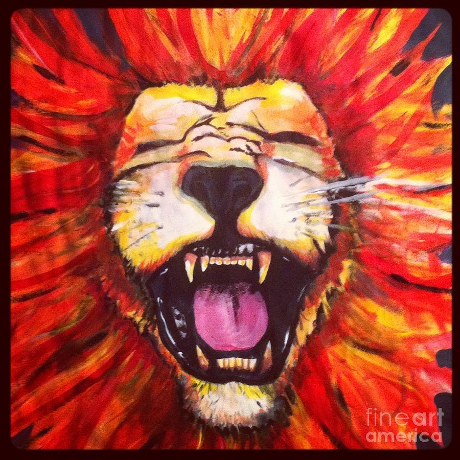 Colorful Lion Paintings Colorful Lion Paintings