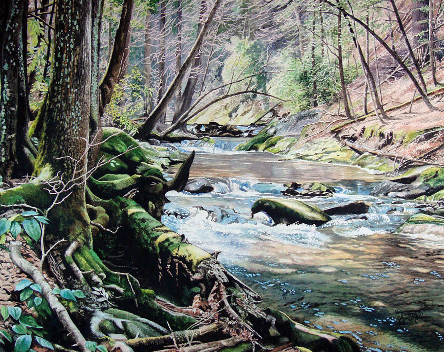 Laurel Creek  Painting  - Laurel Creek  Fine Art Print