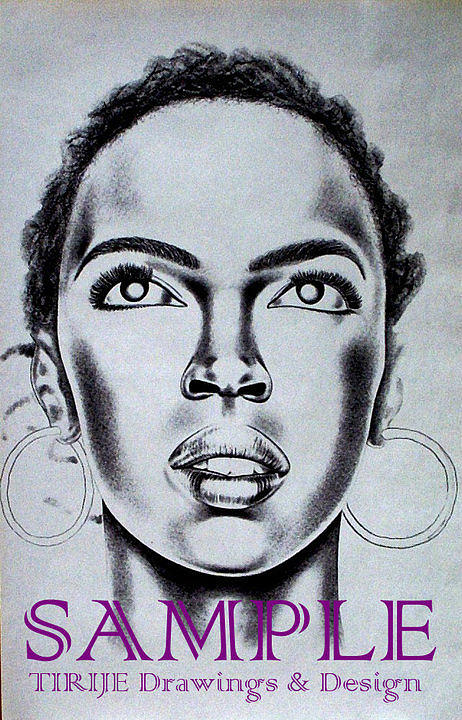 Portraits Drawing - Lauren Hill by Rick Hill