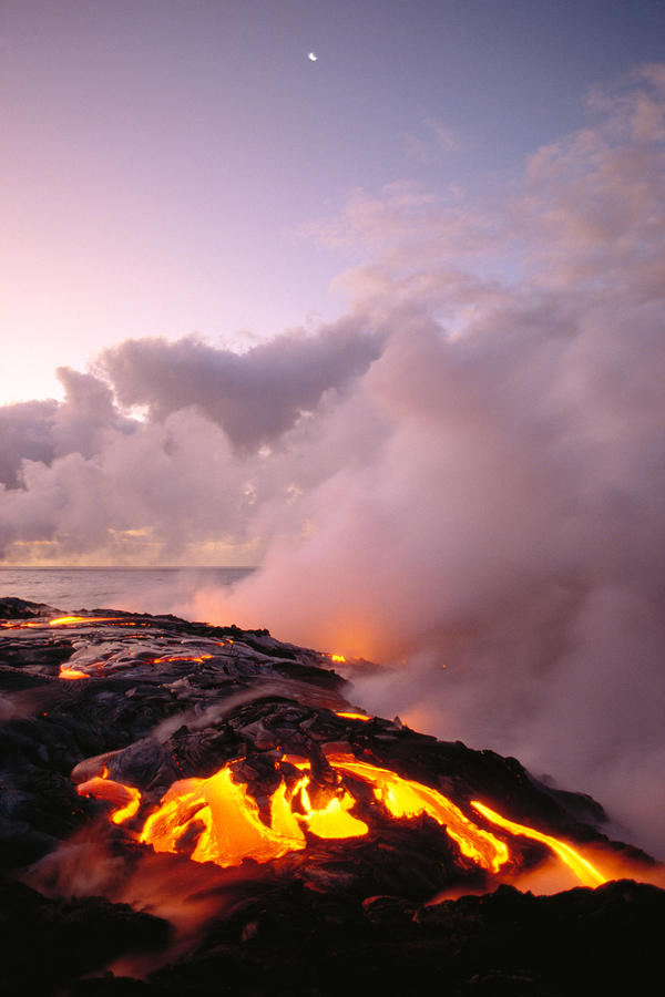 Lava Flows At Sunrise Photograph