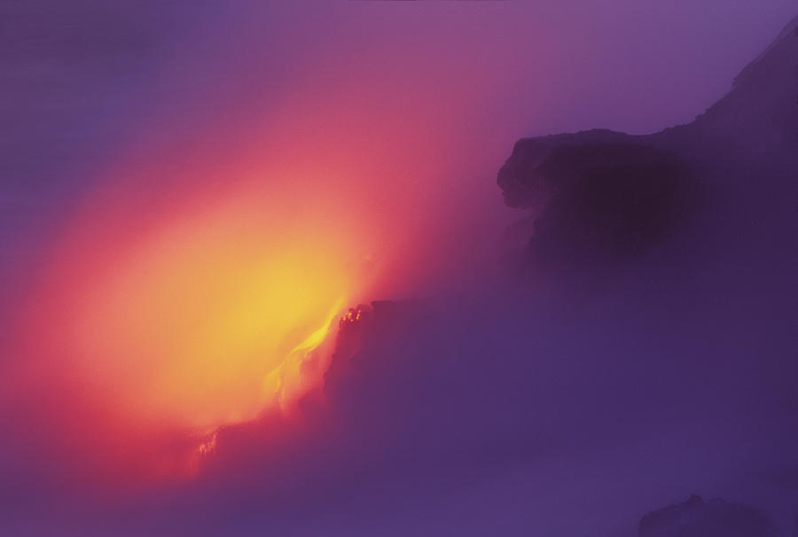 Lava Meets The Sea Photograph  - Lava Meets The Sea Fine Art Print