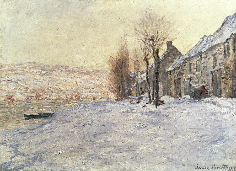 Lavacourt Under Snow Painting