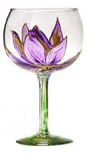 Lavendar Lotus Glass Art