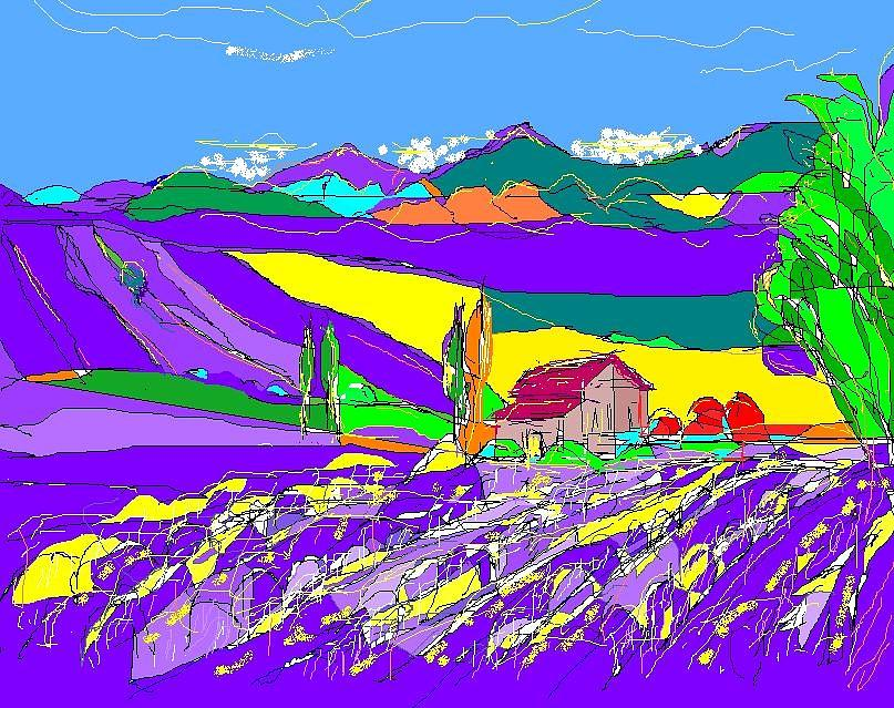 Lavender Fields Digital Art
